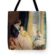 Mrs Hicks Mary Rosa And Elgar Tote Bag by George Elgar Hicks