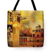 Mughal Art Tote Bag by Catf