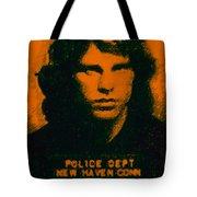 Mugshot Jim Morrison Tote Bag by Wingsdomain Art and Photography