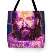 Mugshot Willie Nelson Painterly 20130328 Tote Bag by Wingsdomain Art and Photography