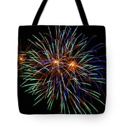 4th Of July Fireworks 22 Tote Bag by Howard Tenke