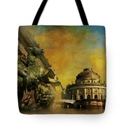 Museum Island Tote Bag by Catf