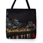 Music And Lights Tote Bag by CJ Schmit