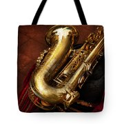 Music - Brass - Saxophone  Tote Bag by Mike Savad
