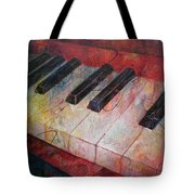 Music Is The Key - Painting Of A Keyboard Tote Bag by Susanne Clark