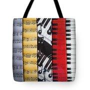 Musical Motifs Tote Bag by Ann Horn
