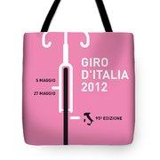 My Giro D' Italia Minimal Poster Tote Bag by Chungkong Art