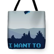 My I want to believe minimal poster- tardis Tote Bag by Chungkong Art