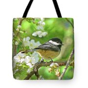 My Little Chickadee In The Cherry Tree Tote Bag by Jennie Marie Schell