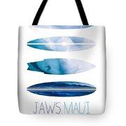 My Surfspots poster-1-Jaws-Maui Tote Bag by Chungkong Art