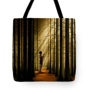 Mysterious Wood Tote Bag by Bedros Awak
