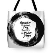 Namaste Enso Tote Bag by Linda Woods