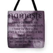 Namaste Pink Tote Bag by Dan Sproul