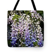Nancys Wisteria 3 Db Tote Bag by Rich Franco