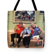Nap Time At The Louvre Tote Bag by Tom Roderick