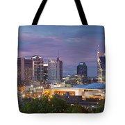 Nashville Skyline Tote Bag by Brian Jannsen