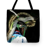 Native American Boy Tote Bag by Kathleen Struckle