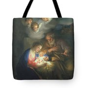 Nativity Scene Tote Bag by Anton Raphael Mengs