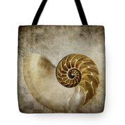 Nautilus Shell Tote Bag by Carol Leigh
