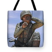 Navajo Code Talkers - Navajo People Tote Bag by Christine Till