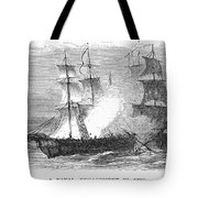 Naval Battle, 1779 Tote Bag by Granger