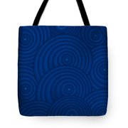 Navy Blue Abstract Tote Bag by Frank Tschakert