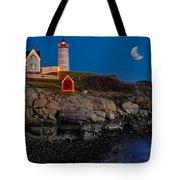 Neddick Lighthouse Tote Bag by Susan Candelario