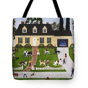 Neighborhood Dog Show Tote Bag by Linda Mears