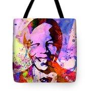 Nelson Mandela Watercolor Tote Bag by Naxart Studio