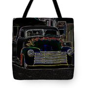 Neon 1948 Chevy Pickup Tote Bag by Steve McKinzie