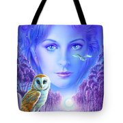 New Age Owl Girl Tote Bag by Andrew Farley
