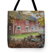 New England Barn Square Tote Bag by Bill  Wakeley