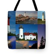 New England Lighthouse Collection Tote Bag by Juergen Roth