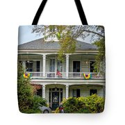 New Orleans Frat House Tote Bag by Steve Harrington