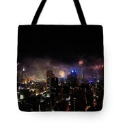 New Year Fireworks IIi Tote Bag by Ray Warren