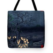New Years Eve Foxfires At The Changing Tree Tote Bag by Georgia Fowler