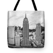 New York City Skyline - Lego Tote Bag by Edward Fielding