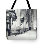 New York City - Snowy Winter Night Tote Bag by Vivienne Gucwa