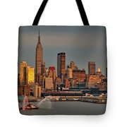 New York City Sundown On The 4th Tote Bag by Susan Candelario