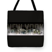 New York Digital-art No.2 Tote Bag by Melanie Viola
