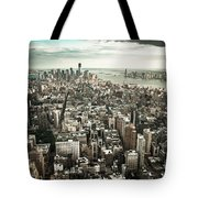 New York From Above - Vintage Tote Bag by Hannes Cmarits