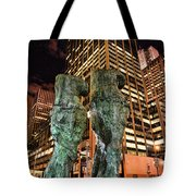 New York - Looking Toward The Avenue Tote Bag by Paul Ward