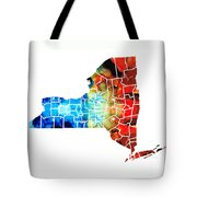 New York - Map By Sharon Cummings Tote Bag by Sharon Cummings