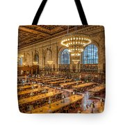 New York Public Library Main Reading Room Ix Tote Bag by Clarence Holmes