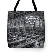 New York Public Library Main Reading Room X Tote Bag by Clarence Holmes