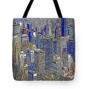 New York Skyline 20130430v2 Tote Bag by Wingsdomain Art and Photography