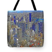 New York Skyline 20130430v4-square Tote Bag by Wingsdomain Art and Photography