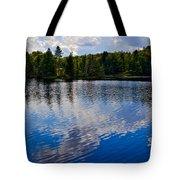 New York's Lake Abanakee Tote Bag by David Patterson
