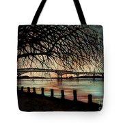 Newburgh Beacon Bridge Sunset Tote Bag by Janine Riley
