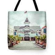 Newport Beach Balboa Main Street Vintage Picture Tote Bag by Paul Velgos